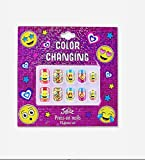 Justice Girls Press-on Nails Color Changing Emoji