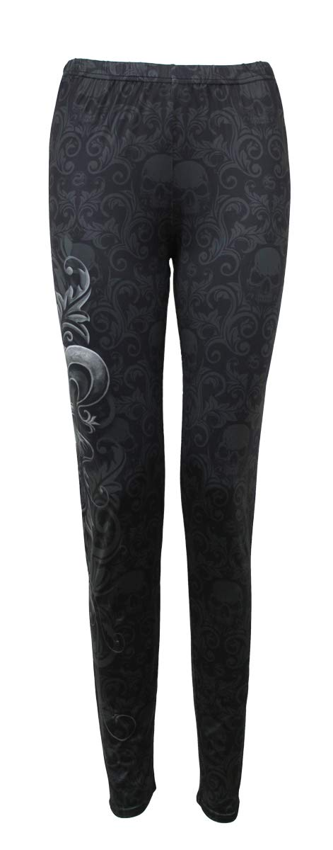 SPIRAL DIRECT SNAKE EYE STUD LEGGINGS ROCK GOTH