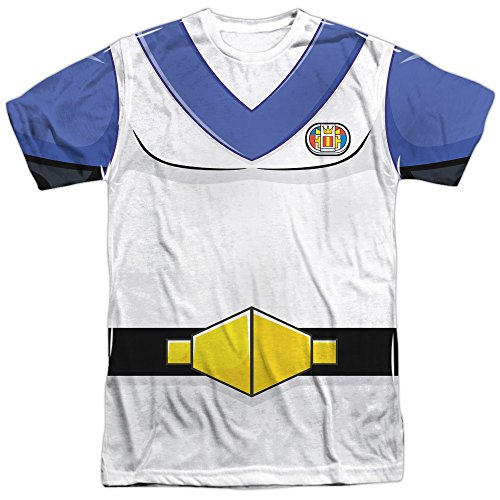 Trevco Unisex-Adults Voltron Lance Costume Double Sided T-Shirt, White, (Voltron Force Costume)