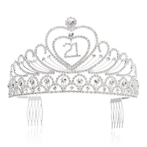 SWEETV Birthday Supplies Rhinestone Headpiece