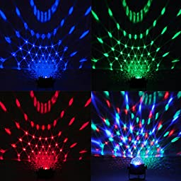 Koval Inc. 2-Set RGB LED Voice Activated Magic Disco Ball Lights (2-Set RGB)