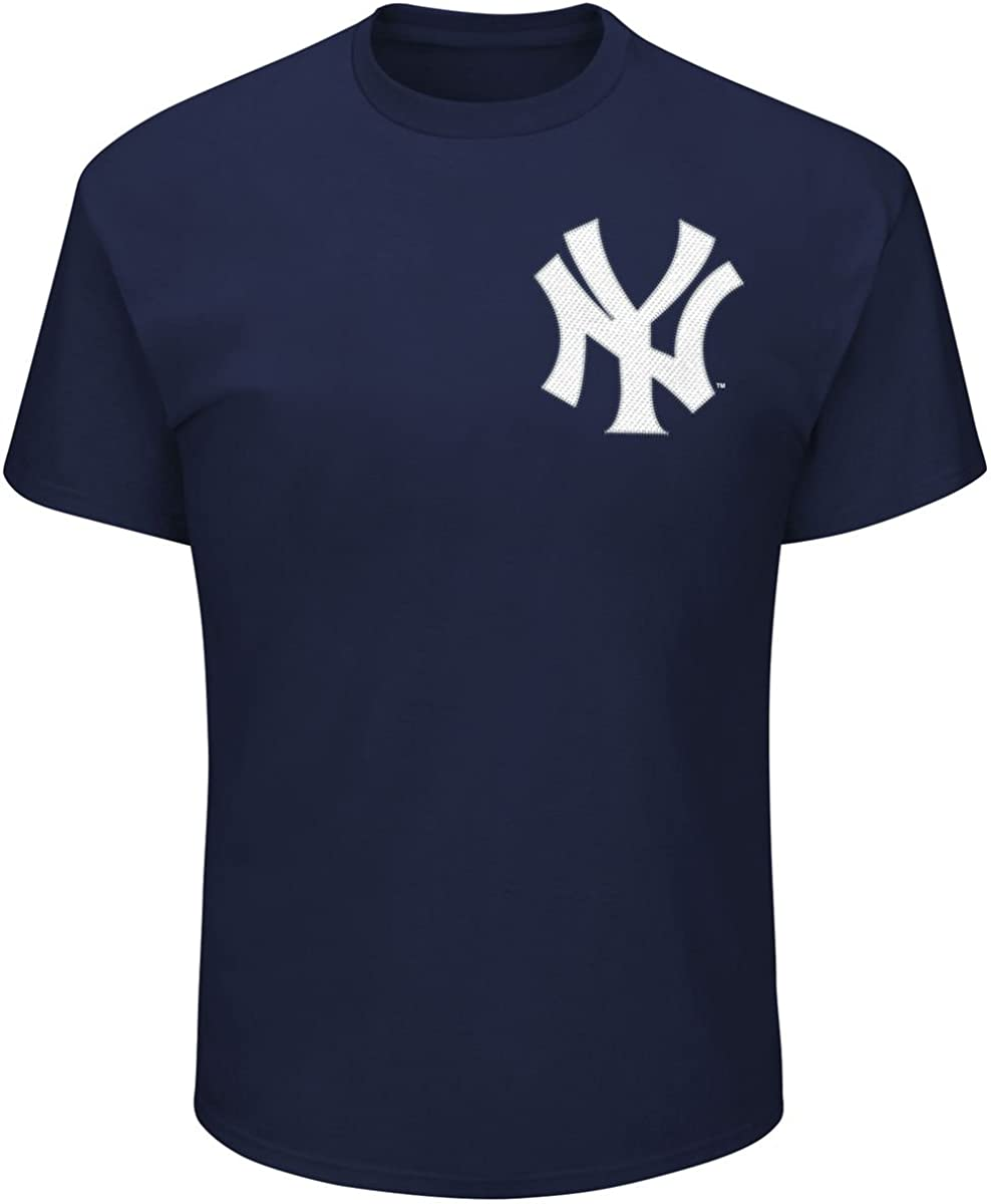 Majestic New York Yankees Babe Ruth Youth Navy High Density T-Shirt