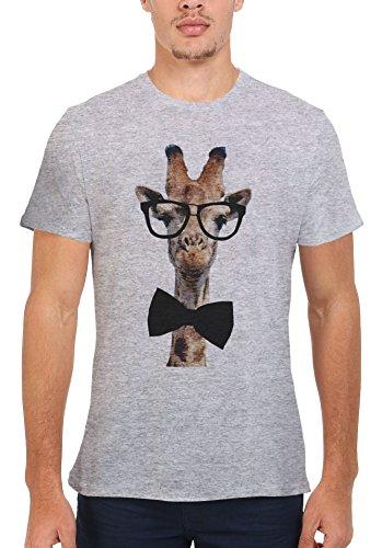 Giraffe Geek Nerd Glasses Bow Tie Novelty Men Women Unisex Top T - Bow With Glasses Geek