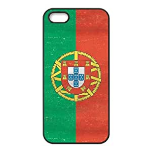 iPhone 4 4s Cell Phone Case Black Portugal Flag Distressed Dptbt