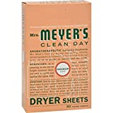 2Pack! Mrs. Meyer's Dryer Sheets - Geranium - Case of 12 - 80 Sheets