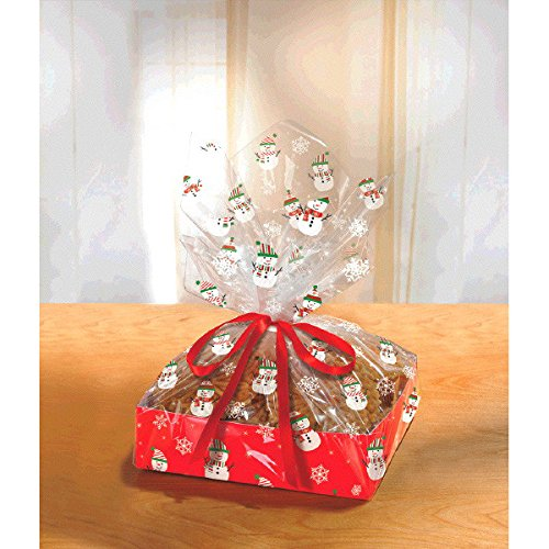 - Snowman Treat Boxes w/Cello Bags & Ribbons ( 3 Sets of 2) - 6 Total