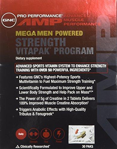 GNC AMP Mega hommes programme force Vitapak, comte 30 paks