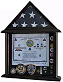 Mahogany Solid Wood Shadow Box For 3' X 5' Flag Folded Not For Burial Flag Glass
