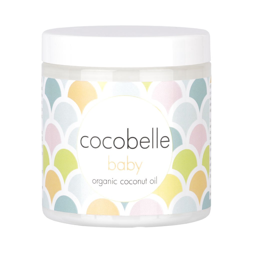 Cocobelle Baby Pure & Gentle Premium 100% Organic Virgin Coconut Oil for Babies - Perfect for Dry Skin, Eczema, Scalp/Cradle Cap, Bottom Balm, Nappy Rash Balm, Sores, Flaky Skin & Baby Massage Oil by Cocobelle Baby