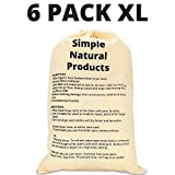 Simple Natural Products Wool Dryer Dryer Balls Handmade (6 XL Pack) Fabric Softener Ball for Sensitive Skin - Helps Prevent Wrinkles and Reduces Static - Reusable 3000 Cycle Rating