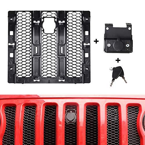 omotor 2PCS Hood Lock W/Keys Kit Assembly Compatible with 2018 2019 Jeep Wrangler JL & Unlimited 2 Door 4 Door
