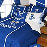 2pc MLB Kansas City Royals Twin Comforter and Pillowcase Set Baseball Team Logo Bedding