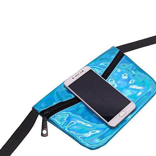 Cuero Playa Cambio Láser; Cintura Bolsillos Moda Con Durable Azul De Deportes Impermeables Casual Pangyan990 La Bolso qAxHwtWBz