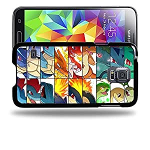 Case88 Designs Pokemon Totodile Cyndaquil Chikorita Protective Snap-on Hard Back Case Cover for Samsung Galaxy S5