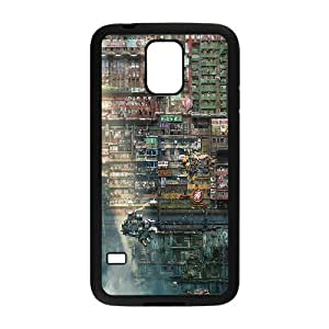 Bloomingbluerose Future Slums Apocalyptic Case for Samsung Galaxy S5 Unique Design by Rock, Samsung Galaxy S5 Cases for Women Cute for Girls with Black