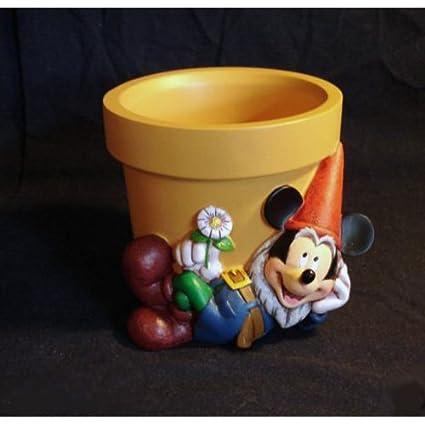 Amazon.com: Disney Mickey Mouse Gnome Flower Pot: Garden & Outdoor