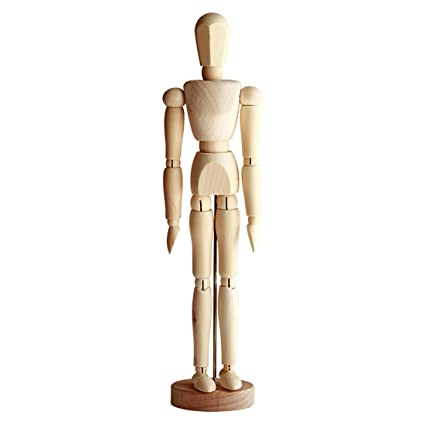 Amazon CoCoMe Wooden Men Puppet Model Movable Joints Doll Custom Puppet Display Stand