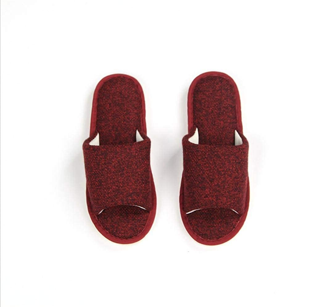 2 JaHGDU Women Home Soft Comfortable Slippers Indoors Leisure Solid color Stylish Casual Simple Style Breathable Wild Cotton Slippers