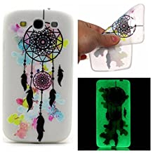 S3 Case, Galaxy S3 Case, SATURCASE Luminous Fluorescent Glow Ultra Thin Soft TPU Gel Silicone Back Case Cover for Samsung Galaxy S3 SIII I9300 (Color-1)