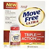 Schiff Move Free Ultra Type II Collagen Hyaluronic Acid Boron Tripe Action Tablets (60 ct)