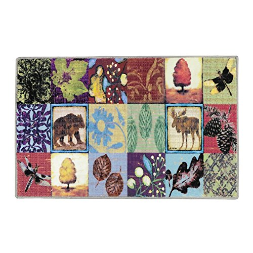 LOCHAS Doormat Christmas Rug Canvas Painting Doormat Collage Collection with Non-Slip Area Rug Pad(Free),Entrance Rug Floor Mats for Indoor Home Rug Pads 1.6' x 2.6'