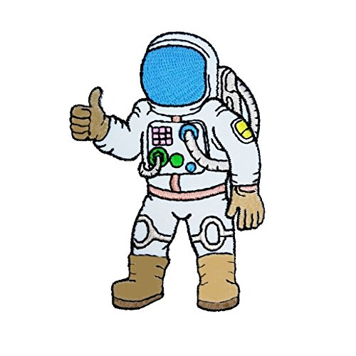 R2K Astronaut - A journey to space Iron on Patches - Spaceman Astronaut Nasa Embroidered Applique Iron on Patch (A101)