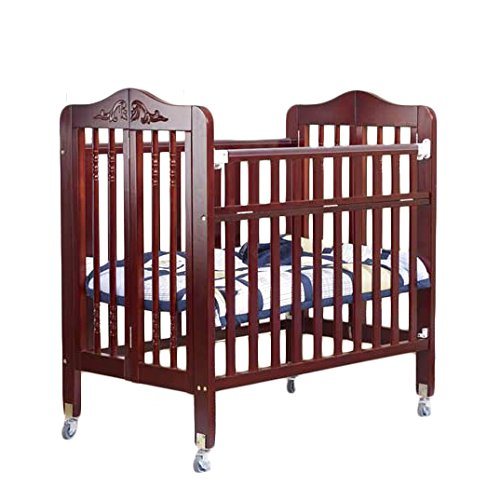 Orbelle Trading Nataliel 3-in-1 Convertible Crib with Mattress, Cherry