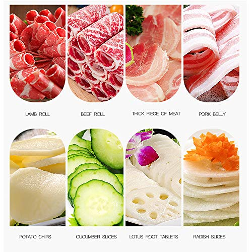 Manual frozen meat ctter slicer machine, 304 food stainless steel and German blade, cut vegetable kitchen products electric cheese bacon ham by GOSSOO (Image #5)