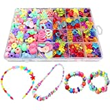 Bead Kids DIY Play Set For Jewelery Making - Craft Beads kits For Little Girls DIY Necklaces Bracelet Children Games Colorful Acrylic Handmade Beaded Set Accessories Gift For Kids