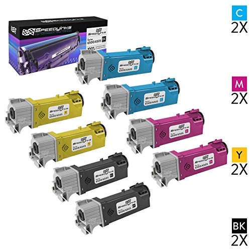 Speedy Inks Toner Cartridge Replacement for Xerox Phaser/WorkCentre 6500 (2 Black, 2 Cyan, 2 Magenta, 2 Yellow, 8-Pack)