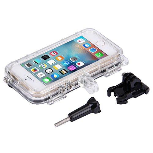 iPhone Case Cover Pour iPhone 5 & 5S & SE Extreme Sports étanche boîtier avec 170 degrés grand angle, compatible avec GoPro Accessoires ( Color : Black )
