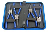 US PRO Professional 4pc 7 inch Circlip Pliers Internal External Set in Canvas Case B2064
