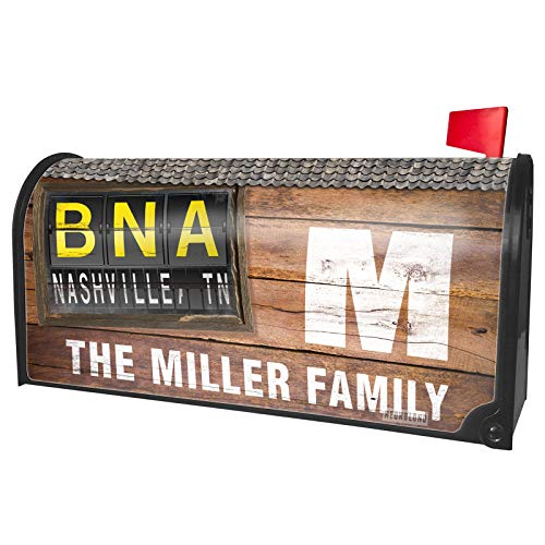 NEONBLOND Custom Mailbox Cover BNA Airport Code for Nashville, TN