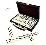 28 Piece Domino Set-Premium Classic Double Six In Durable Wooden Brown Box-Anytime Entertainment-Long time Storage, Easy Transport, Its Durable, Wooden Case Will Keep For Years Without Misplacing Pcs