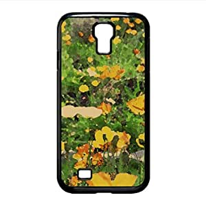 Field Of Flowers 2 Watercolor style Cover Samsung Galaxy S4 I9500 Case (Landscape Watercolor style Cover Samsung Galaxy S4 I9500 Case)