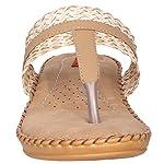 51w70iZkZ7L. SS150  - 1 Walk Comfortable Synthetic Leather Doctor Sole Women's Flats - Beige