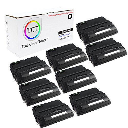 TCT Premium Compatible Toner Cartridge Replacement for HP 38A Q1338A Black Works with HP Laserjet 4200 4200N 4200TN 4200DTN 4200DTNS 4200DTNSL Printers (10,000 Pages) - 8 Pack
