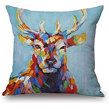 Amazon.com: Throw Pillow Cover 18x18 Oil Painting Colorful