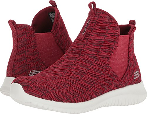 Skechers Women's Ultra Flex High Rise Pull On Fashion Sneaker Shoes Red Size 8.5 by Skechers