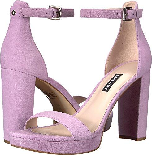 Nine West Women's Dempsey Platform Heel Sandal Light Purple Suede 7.5 M US M -