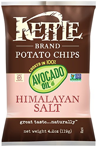 Kettle Brand Himalayan Salt Potato Chips Cooked In Avocado Oil, 4.2 oz