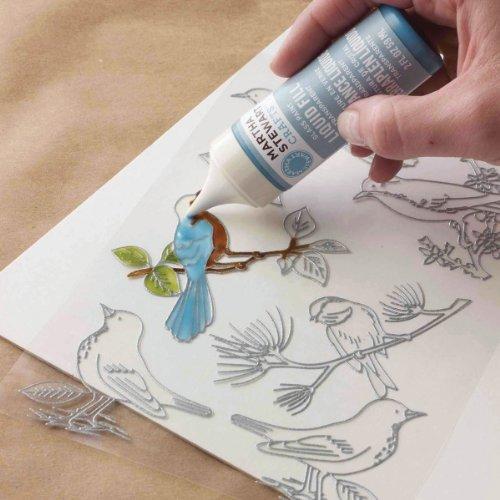 (Martha Stewart Crafts Outline Glass Cling, 33267 Woodland Birds )