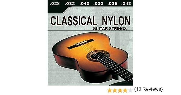Ociodual Lote De 6 Cuerdas para Guitarra ClasicaEspañola Classical Nylon Musica: Amazon.es: Electrónica