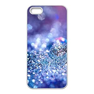 Cool Painting Silver Bling DIY Cover Case for Iphone 5,5S,personalized phone case case592564