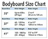 BPS 'Green Machine' Bodyboard with Wrist Leash