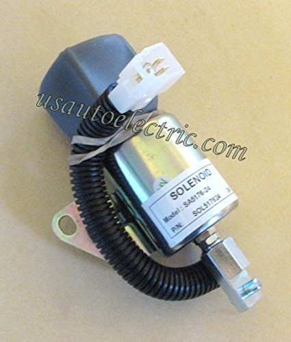 Push / Pull Solenoid New Voltage; 24V Terminals: 3 1700 Series Solenoied Pull Force: 85-111 N Hold Force: 168-191 N Replaces: SA-5176-24 1756ES-24SUC5B1S5 Application: Kubota, other -  Usautoelectric, SA-5176-24, 1756ES-24SUC5B1S5