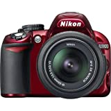 Nikon D3100 Digital SLR Camera with 18-55mm NIKKOR VR Lens - Red (International Model no Warranty)