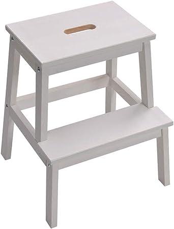 Ladder Stool Taburete de Madera de 2 escalones para Adultos y niños, para Interiores, Cocina, Banco de Zapatos/Estante de Flores, escaleras de Madera, taburetes pequeños: Amazon.es: Hogar