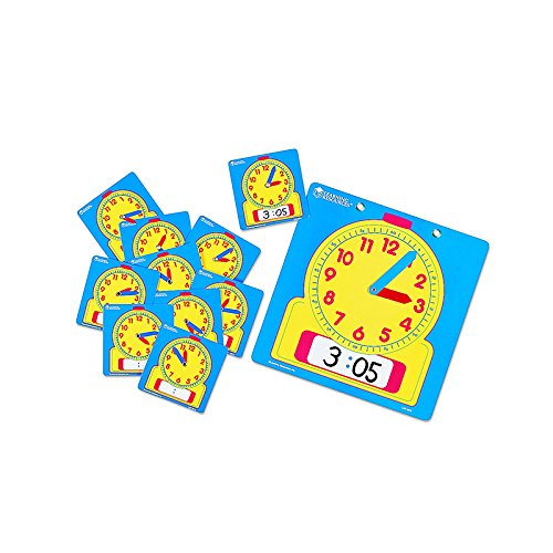 LEARNING RESOURCES WRITE-ON/WIPE-OFF CLOCKS 10/PK (Set of 3)