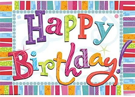 idealWigsNet Cartel Radiante Feliz cumpleaños - A3: Amazon ...